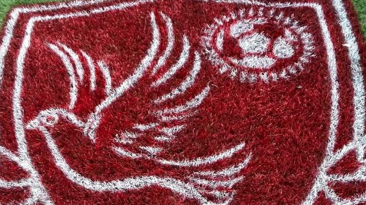 Pour honorer le club et le président SOUARE, Newman a fourni gracieusement un superbe logo HAC intégré à la pelouse