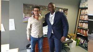 Mr remy(Directeur centre de formation et visite des installations) avec le president Soufiane